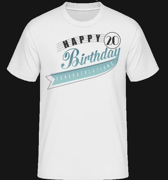 Happy 20 Birthday -  Shirtinator Men's T-Shirt - White - Front