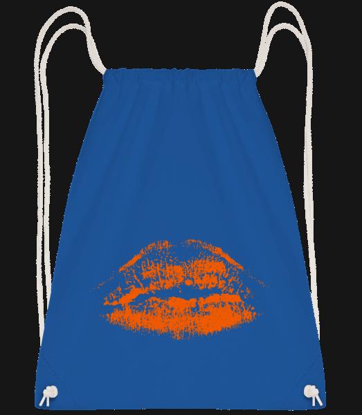 Orange Lips - Drawstring Backpack - Royal blue - Vorn