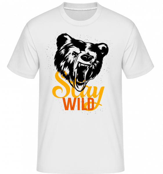 Stay Wild -  Shirtinator Men's T-Shirt - White - Vorn