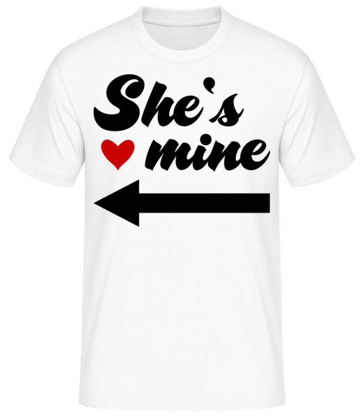 She Is Mine - Basic T-shirt - White - Vorn