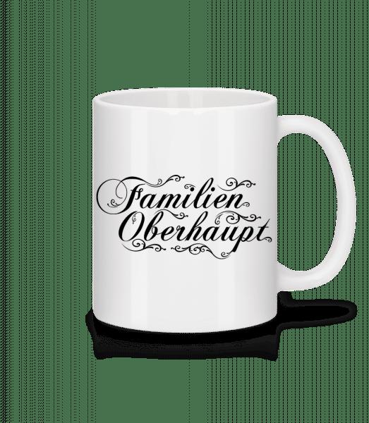 Familien Oberhaupt - Tasse - Weiß - Vorn