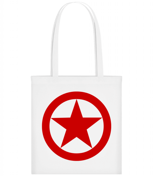 Étoile Dans Cercle Logo - Sac tote - Blanc - Vorn