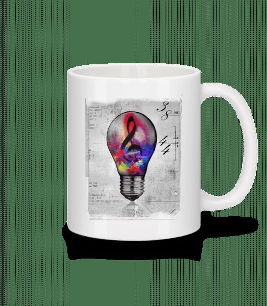 Bunte Glühbirne - Tasse - Weiß - Vorn
