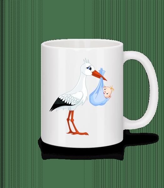 Stork Brings Baby - Mug - White - Vorn