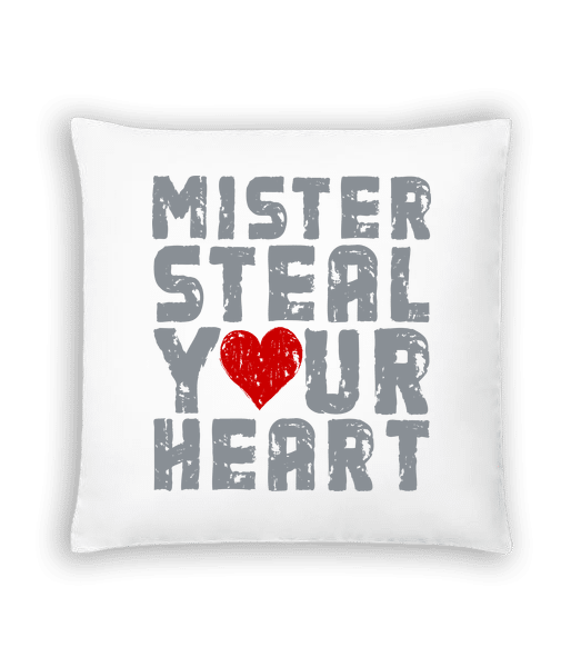 Mister Steal Your Heart - Cushion - White - Vorn