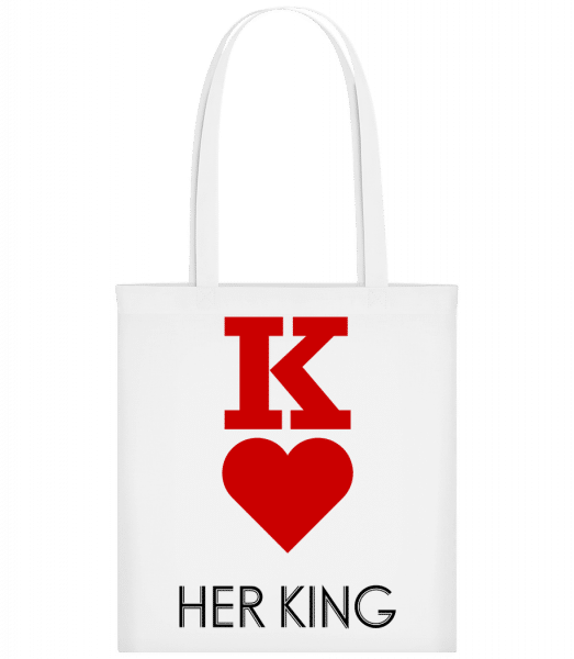 Her King - Carrier Bag - White - Vorn