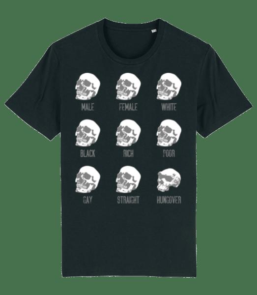 Hungover Skull - Männer Premium Bio T-Shirt Stanley Stella - Schwarz - Vorn