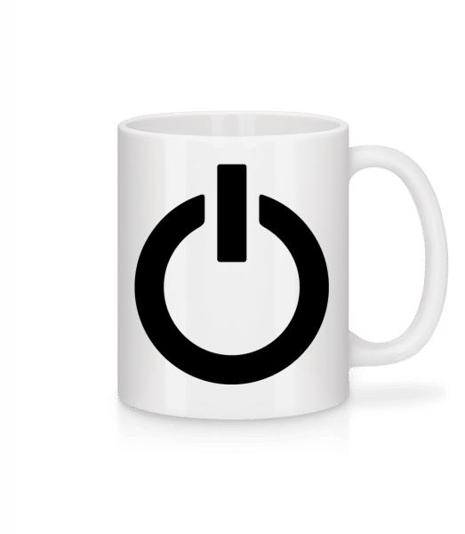 Battery Full Icon - Mug - White - Front