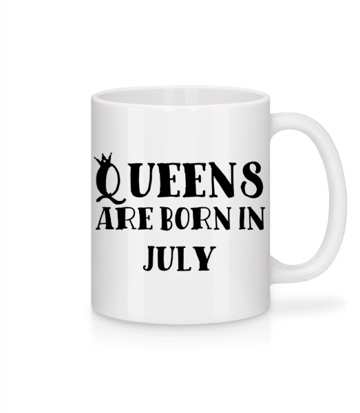 Queens Are Born In July - Mug - White - Vorn