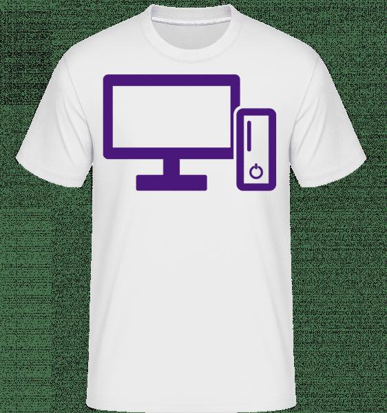 Console De Jeux -  T-Shirt Shirtinator homme - Blanc - Vorn
