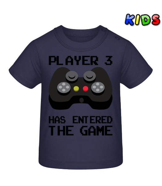 Player 3 Entered The Game - Baby T-Shirt - Navy - Vorn