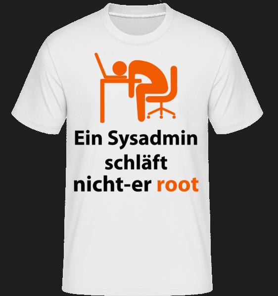 Ein Sysadmin Schläft Nicht - Shirtinator Männer T-Shirt - Weiß - Vorn