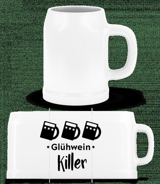 Glühwein Killer - Bierkrug - Weiß - Vorn
