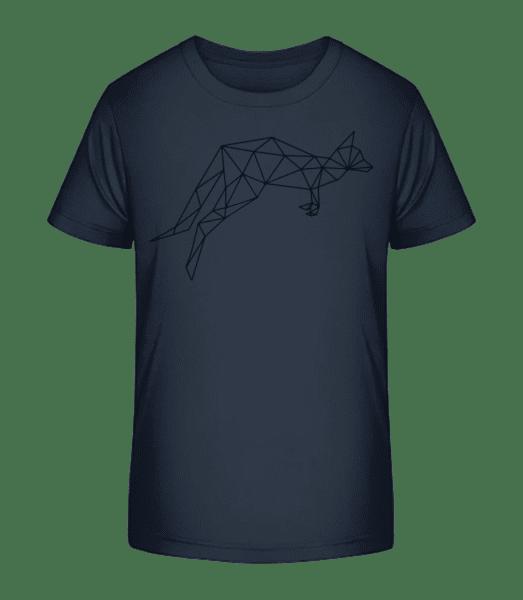 Polygon Känguru - Kinder Premium Bio T-Shirt - Marine - Vorn