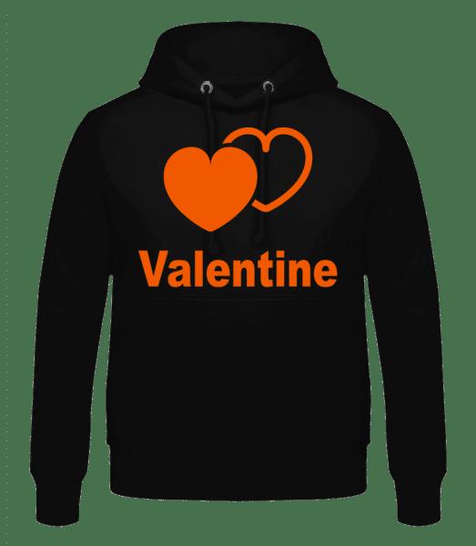 Valentine Heart - Men's Hoodie - Black - Vorn