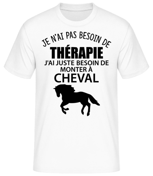 Monter À Cheval - T-shirt standard Homme - Blanc - Vorn