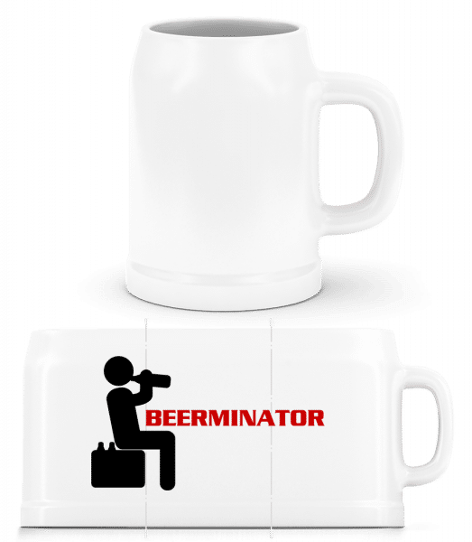 Beerminator - Beer Mug - White - Vorn