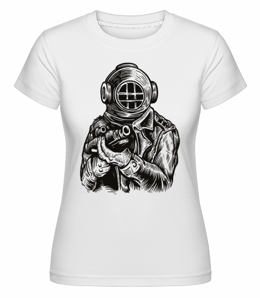 Diver Soldier -  Shirtinator tričko pro dámy - Bílá - Napřed