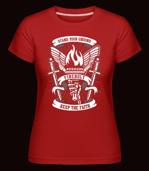 Torch -  Shirtinator Women's T-Shirt - Red - Front