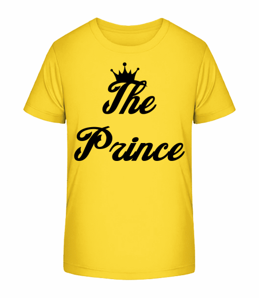 The Prince - Kid's Premium Bio T-Shirt - Yellow - Vorn