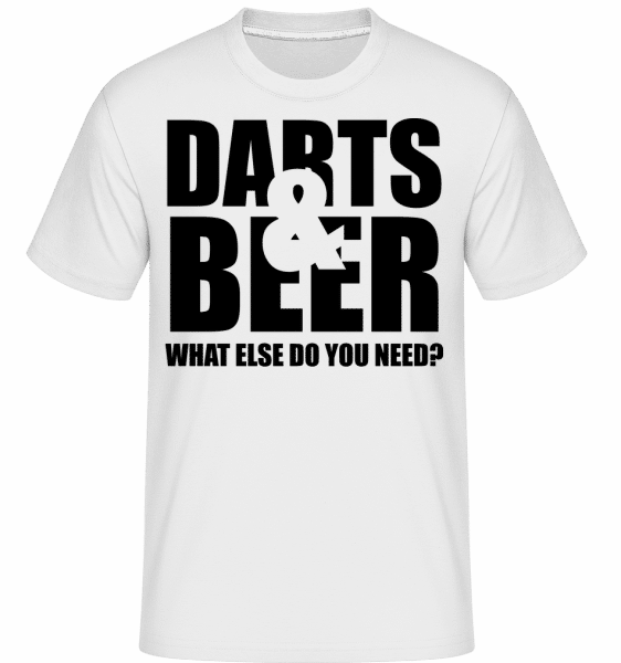 Darts And Beer -  Shirtinator Men's T-Shirt - White - Vorn