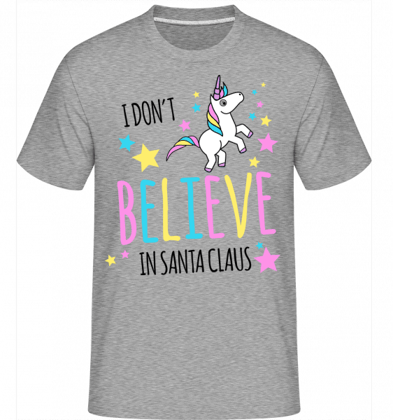 I Don't Believe In Santa Claus -  Shirtinator Men's T-Shirt - Heather grey - Vorn