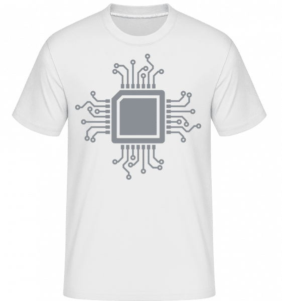 CPU Chip -  Shirtinator Men's T-Shirt - White - Vorn