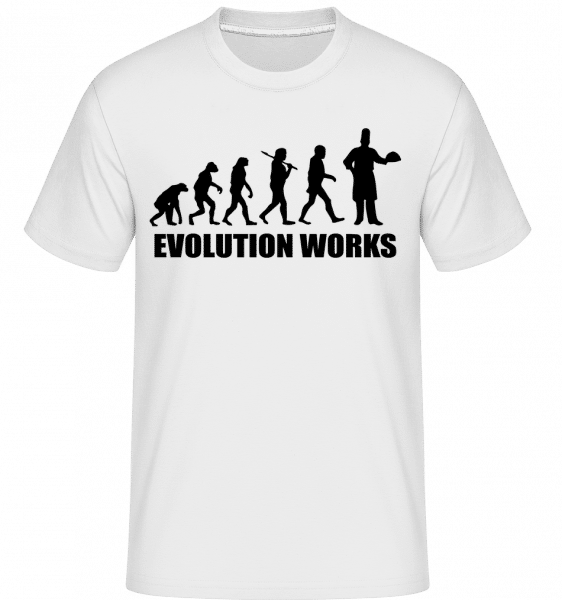 Evolution Works Cooking - Shirtinator Männer T-Shirt - Weiß - Vorn