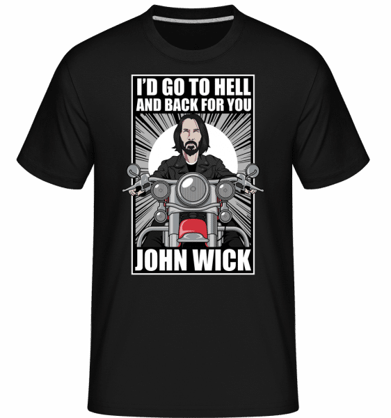 John Wick Biker -  Shirtinator Men's T-Shirt - Black - Vorn