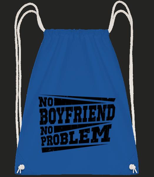 No Boyfriend No Problem - Drawstring Backpack - Royal blue - Vorn