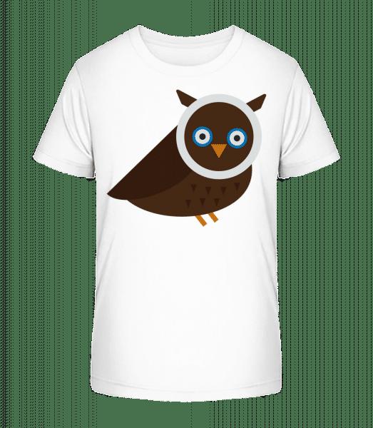 Owl Image - Kid's Premium Bio T-Shirt - White - Vorn