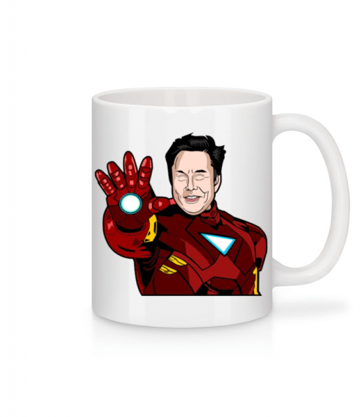 Elon Musk Iron Man - Mug - White - Front