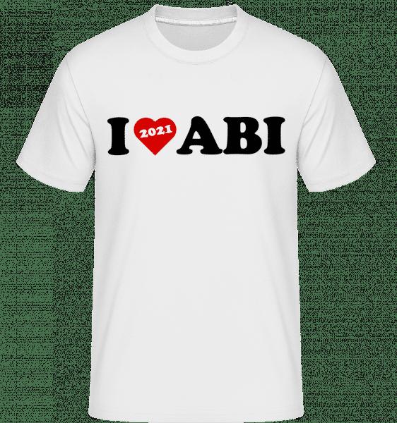 I Love Abi 2021 - Shirtinator Männer T-Shirt - Weiß - Vorn