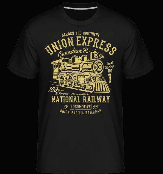 Union Express -  Shirtinator Men's T-Shirt - Black - Front