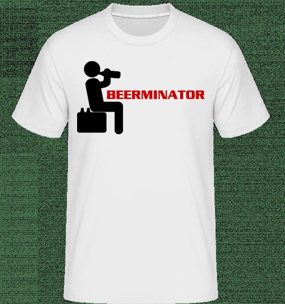 Beerminator -  Shirtinator Men's T-Shirt - White - Vorn