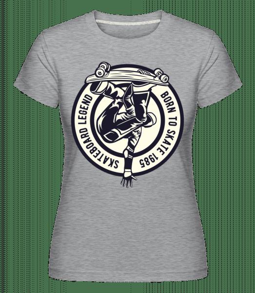 Skateboard Legend -  Shirtinator Women's T-Shirt - Heather grey - Vorn