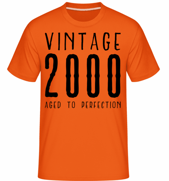 Vintage 2000 Aged To Perfection - Shirtinator Männer T-Shirt - Orange - Vorn