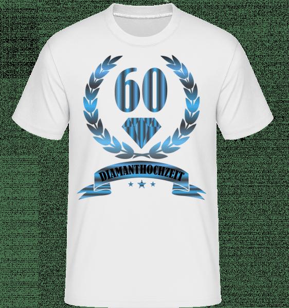 Diamanthochzeit - Shirtinator Männer T-Shirt - Weiß - Vorn