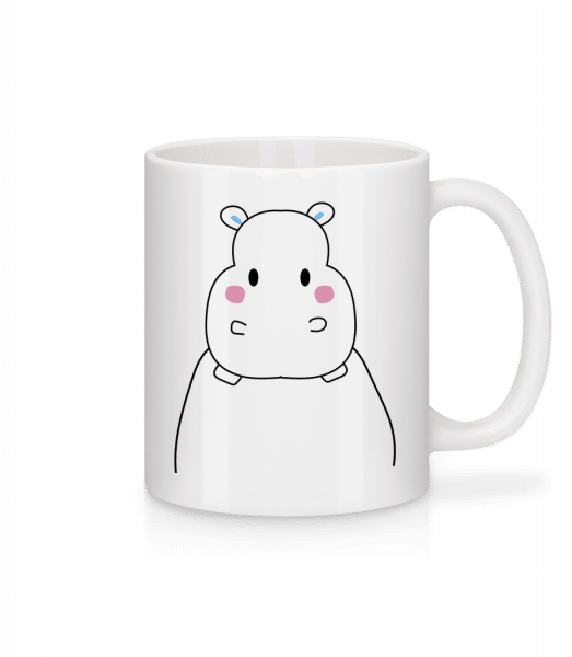 Cute Hippopotamus - Mug - White - Vorn