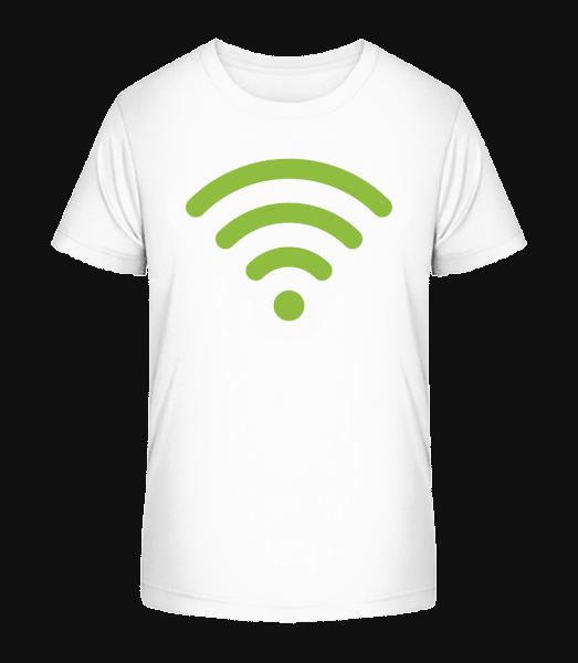 Wlan Icon Green - Kid's Premium Bio T-Shirt - White - Vorn