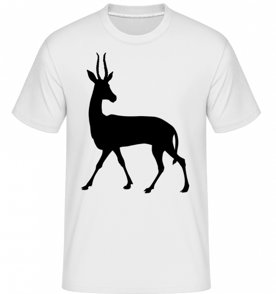 Cerf Ombre Curieux -  T-Shirt Shirtinator homme - Blanc - Vorn