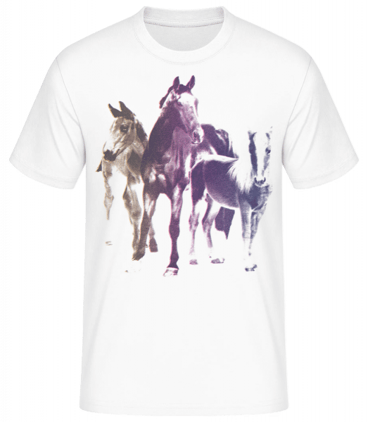 Polaroid Horses - Men's Basic T-Shirt - White - Front