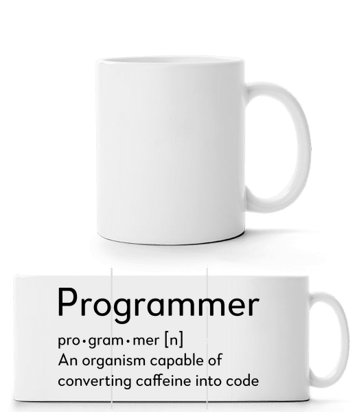 Programmer Definition - Panorama Mug - White - Front