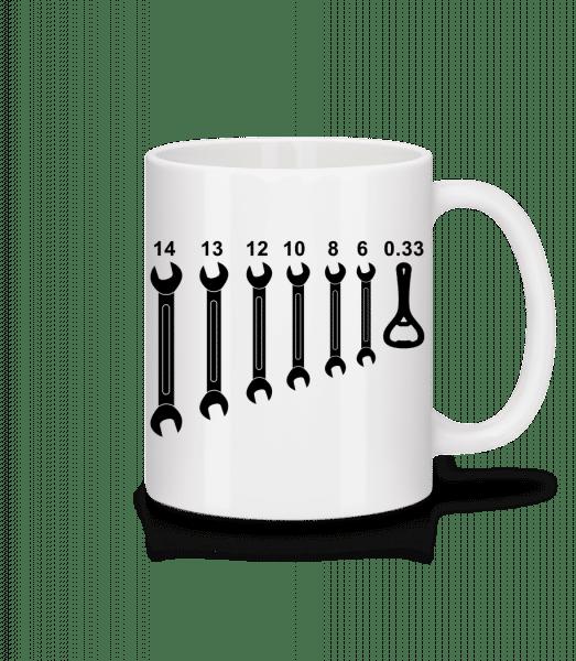 Werkzeug Bieröffner - Tasse - Weiß - Vorn