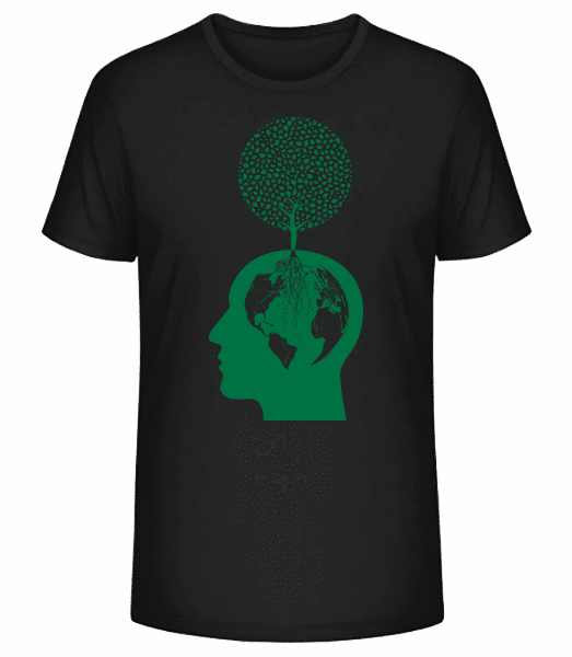 Nature And Environment Head - Men's Premium Organic T-Shirt Stanley Stella - Black - Vorn