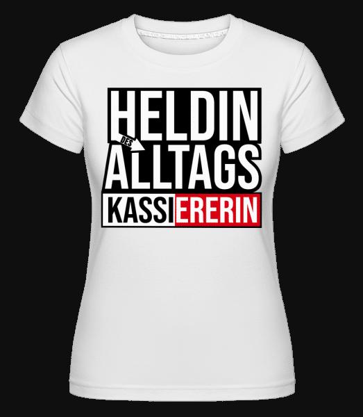 Heldin Des Alltags Kassiererin - Shirtinator Frauen T-Shirt - Weiß - Vorn