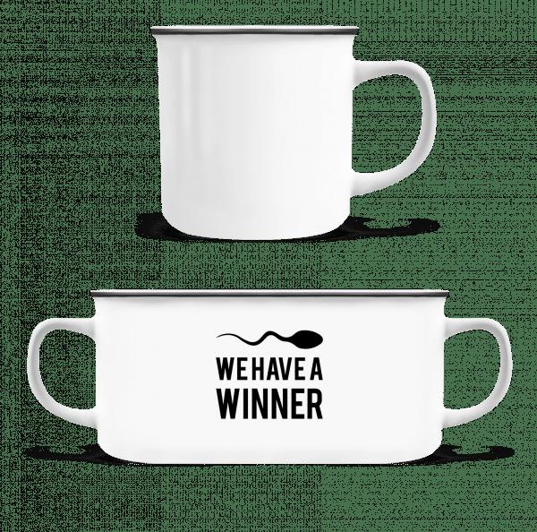 Sperm Winner - Enamel-cup - White - Vorn