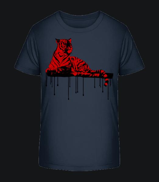 Red Tiger - Kid's Premium Bio T-Shirt - Navy - Vorn