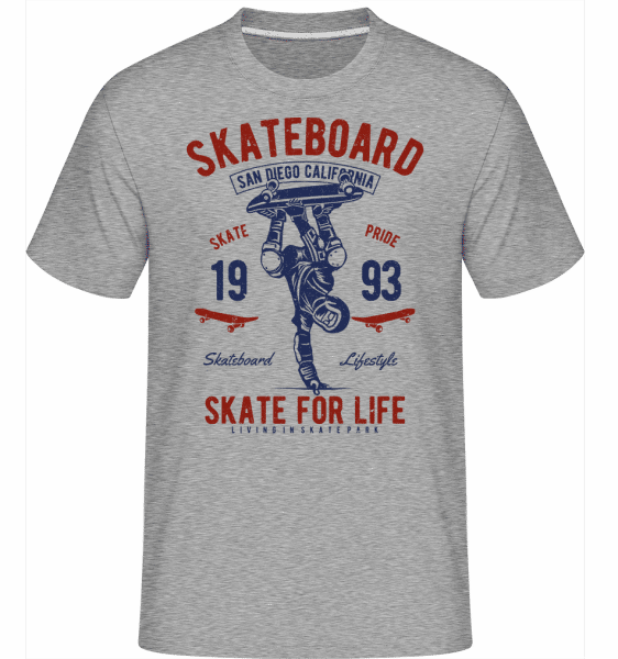 Skate For Life -  Shirtinator Men's T-Shirt - Heather grey - Front