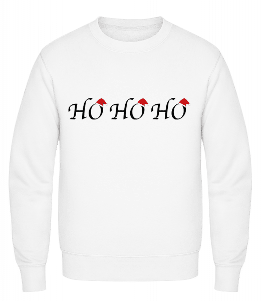 Ho Ho Ho - Classic Set-In Sweatshirt - White - Vorn